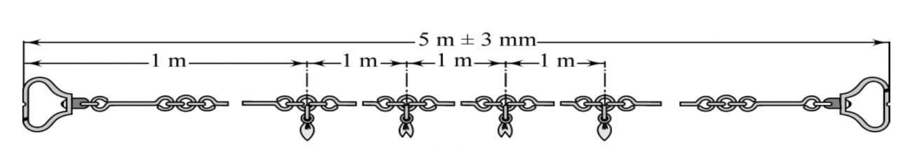 Measurement chain 5 m