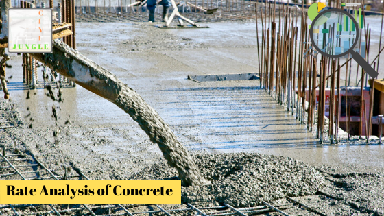 Rate Analysis of Concrete