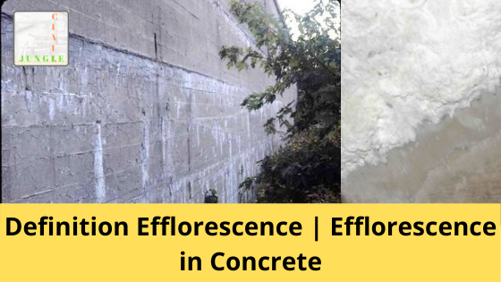 Efflorescence in Concrete