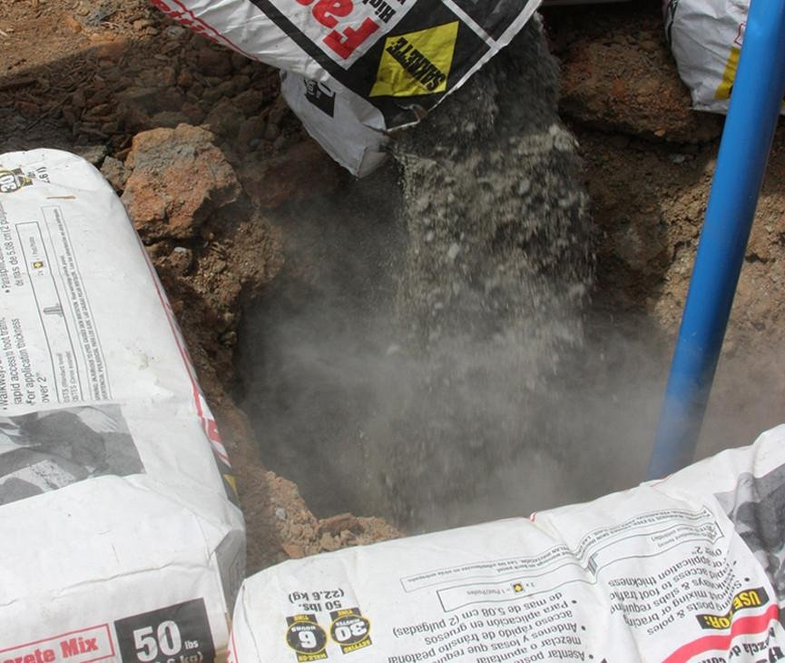 use of Quick setting cement