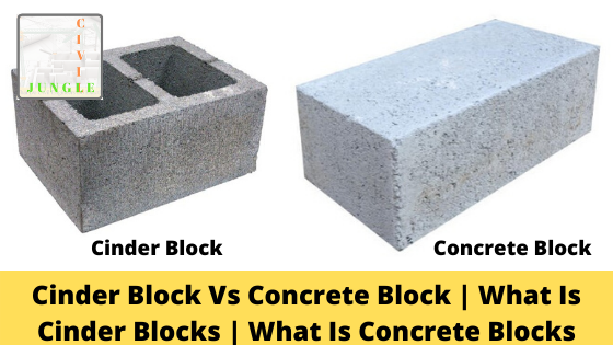 Cinder Block Vs Concrete Block
