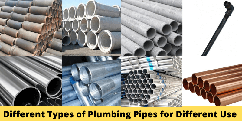 Different Types of Plumbing Pipes for Different Use
