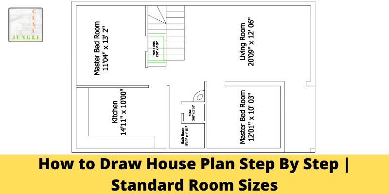 Standard Room Size How To Draw House Plan Step By Step