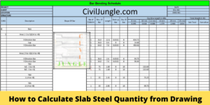 How to Calculate Slab Steel Quantity from Drawing