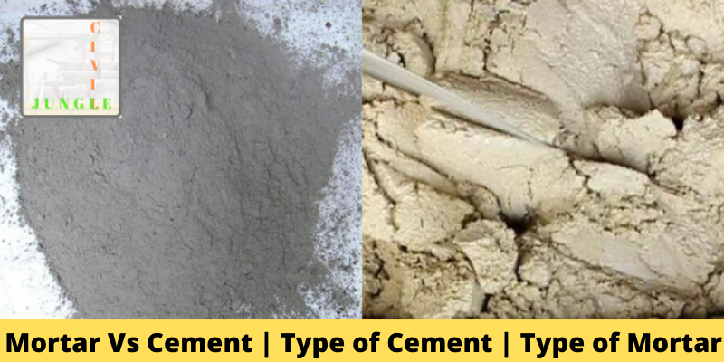 Mortar Vs Cement