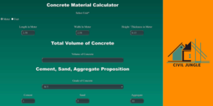 Concrete Material Calculator