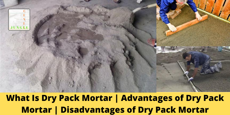 Dry Pack Mortar