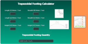 Trapezoidal Footing Calculator