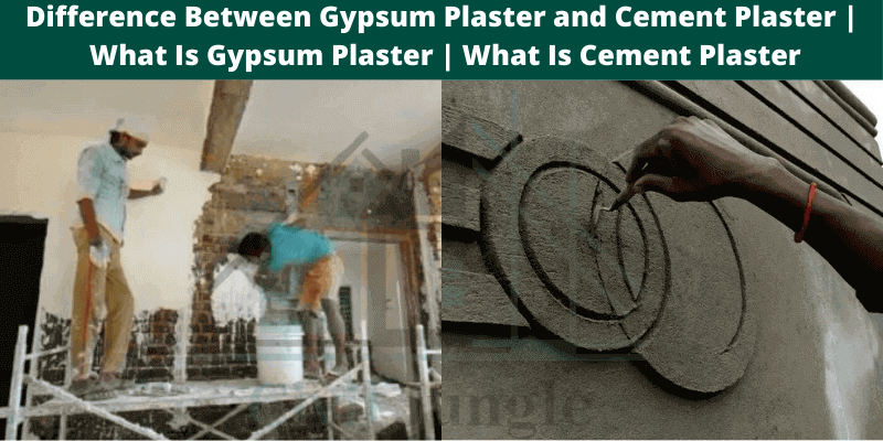 Difference Between Gypsum Plaster and Cement Plaster .