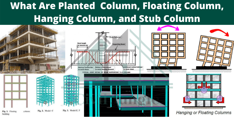 What Are Planted Column, Floating Column, Hanging Column, and Stub Column (1)