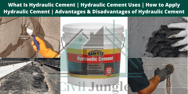 Hydraulic Cement Uses