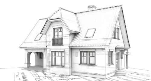 Architectural Concept Drawing in Residential Construction