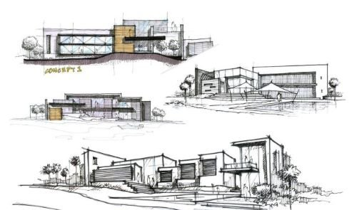 Architecture Concept Drawings