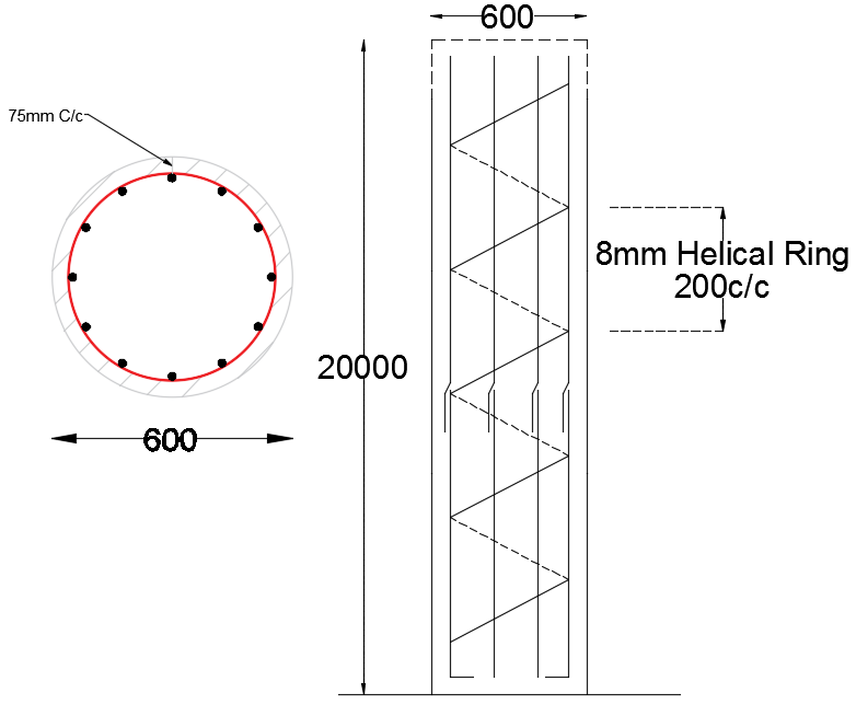 Cutting Length for Helical Stirrups