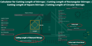 Cutting Length of Stirrups