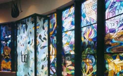 Stained Glass Wall Finish