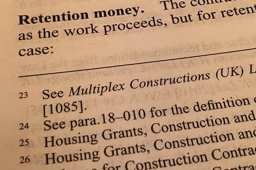 What Do You Mean by Retention Money in Construction