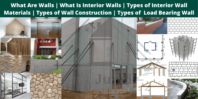 different types of walls in house