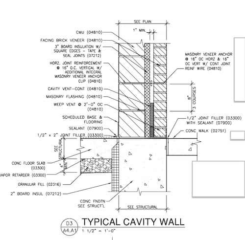 Cavity Wall Detail