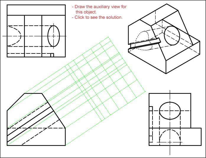 Drawing Steps for Auxiliary View