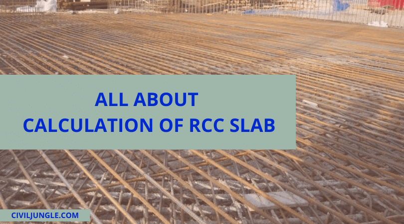 All About Calculation of RCC Slab