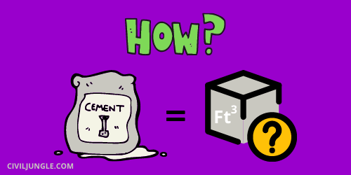 How to Calculate the Volume of 1 Bag of Cement in Ft