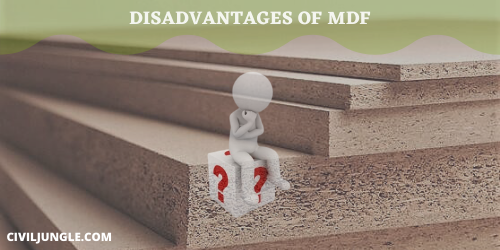 disAdvantages of MDF