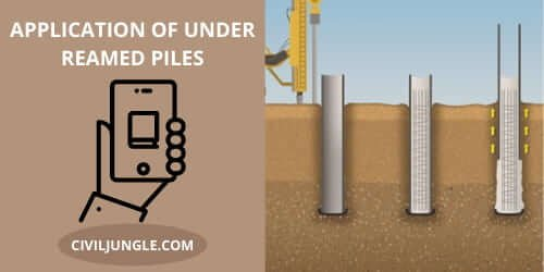 Application of Under Reamed Piles