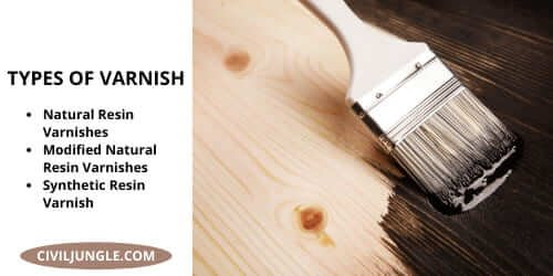 TYPES OF VARNISH