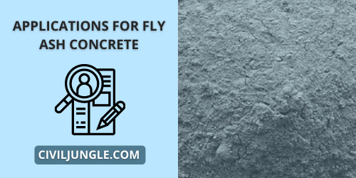 Applications for Fly Ash concrete