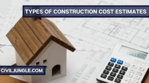 Types of Construction Cost Estimates